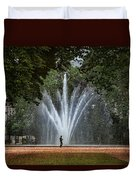 Parc De Bruxelles Fountain Duvet Cover