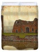 Parchment Texture Kirby Muxloe Castle Duvet Cover