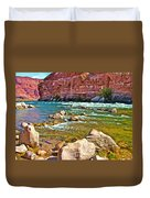 Pariah Riffle Near Lee's Ferry In Glen Canyon National Recreation Area-arizona Duvet Cover