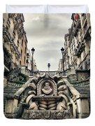 Paris - Statue Duvet Cover