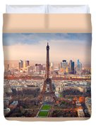 Paris At Sunset Duvet Cover