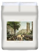 Paris Boulevard, 1859 Duvet Cover