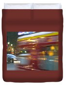 Paris Bus Pont Au Change  Or One Half Step Away From The Hereafter Duvet Cover