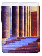 Paris Columns Duvet Cover by Chuck Staley