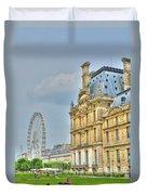 Paris Ferris Wheel Duvet Cover