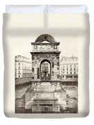 Paris Fountain, C1858 Duvet Cover