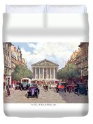 Paris France - The Rue Royal And The Madeleine - 1910 Duvet Cover
