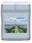 Paris From Above Duvet Cover