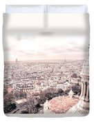Paris From Above - View From Sacre Coeur Basilica Duvet Cover