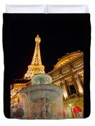 Paris Hotel And Casino In Las Vegas Duvet Cover
