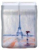 Paris In Rain Duvet Cover