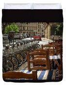 Paris In The Rain Duvet Cover