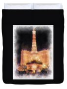 Paris Las Vegas Photo Art Duvet Cover