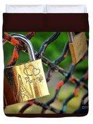 Paris Love Lock Duvet Cover