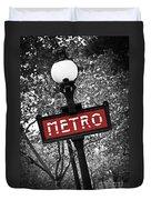 Paris Metro Duvet Cover