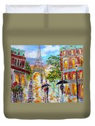 Paris Romance Duvet Cover