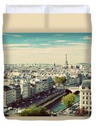 Paris Skyline France. Eiffel Tower Duvet Cover