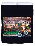 Paris Street Market Duvet Cover