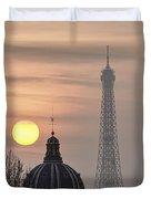 Paris Sunset I Duvet Cover