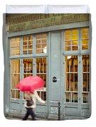 Paris Umbrella Duvet Cover