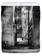 Park Alley Sunset Duvet Cover by Bob Orsillo