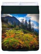 Park Butte Fall Color Duvet Cover