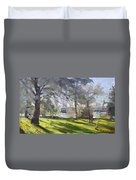 Park By Niagara Falls River Duvet Cover