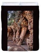 Park Guell Colonnade No1 Unframed Duvet Cover