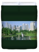 Park In The City, Petronas Twin Towers Duvet Cover