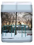 Park In Winter Duvet Cover