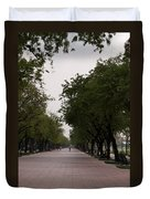 Park Leading To The King Of Thailands Palace Duvet Cover