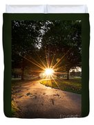 Park Sunburst Portrait Duvet Cover