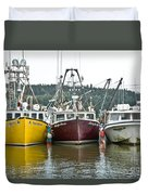 Parked Fishing Boats Duvet Cover