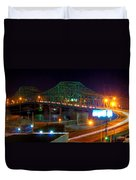Parkersburg Belpre Bridge Duvet Cover