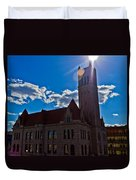 Parkersburg Courthouse Duvet Cover