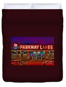 Parkway Lanes Duvet Cover