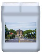 Parkway View Of The Museum Of Art Duvet Cover