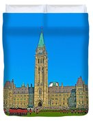 Parliament Building In Ottawa-on Duvet Cover
