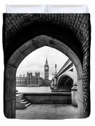 Parliament Through An Archway Duvet Cover
