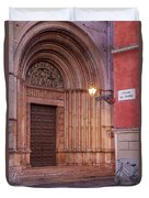 Parma Baptistery Doorway Duvet Cover