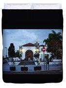 Parraquia De San Amaro. Puerto De La Cruz By Night Duvet Cover