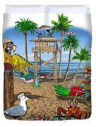 Parrot Beach Party Duvet Cover