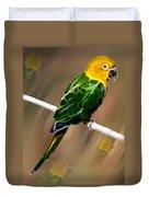 Parrot Beauty Digital Artwork Duvet Cover