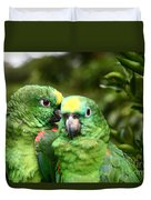 Parrot Whispers Duvet Cover