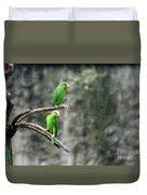 Parrots In The Rain Duvet Cover