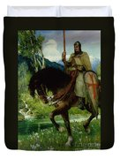 Parsifal In Quest Of The Holy Grail Duvet Cover