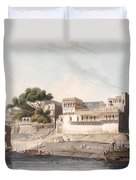 Part Of The City Of Patna, On The River Duvet Cover