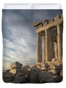 Parthenon From The South Duvet Cover