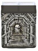Partington Cove Tunnel By Diana Sainz Duvet Cover