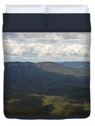 Partly Cloudy Day In The Blue Mountains Duvet Cover